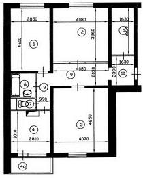 Трехкомнатная квартира п-46 перепланировка квартир в серии п.
