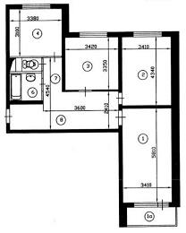 Планировка 3 комнатной хрущевки фото