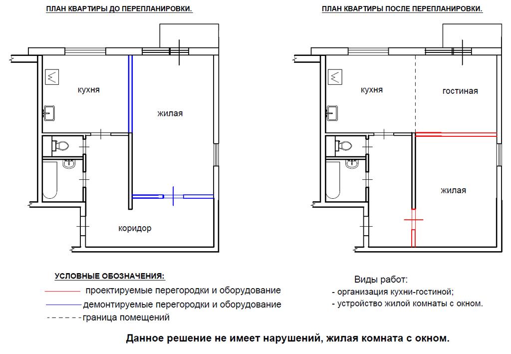 Перепланировка и согласование в Московском районе Санкт