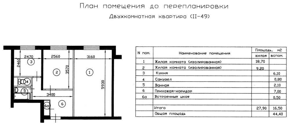 Совмещенный санузел в П44Т - ГСПСРУ