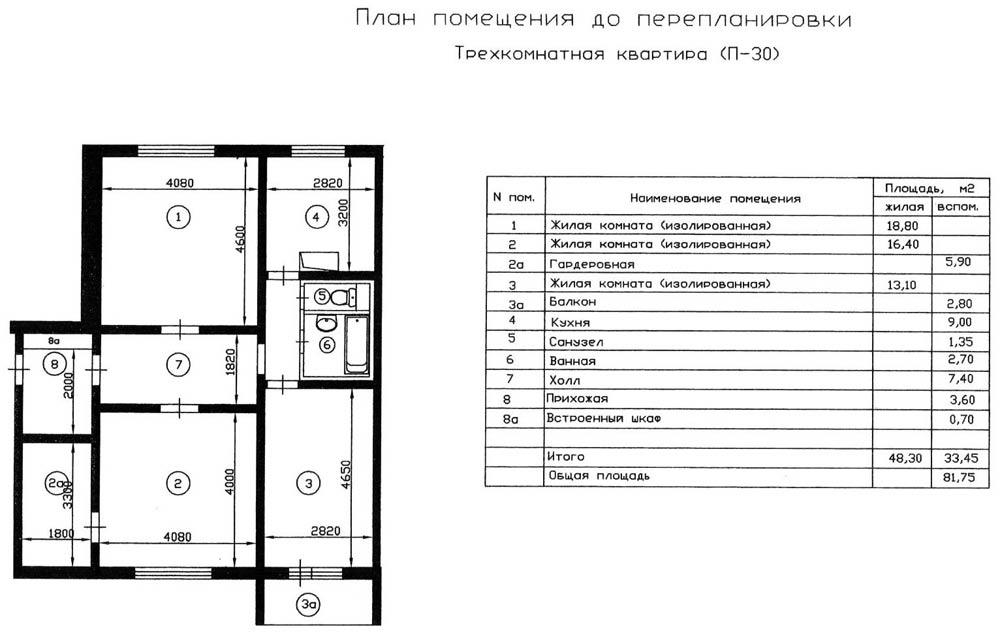 квартиры фото плана трехкомнатной