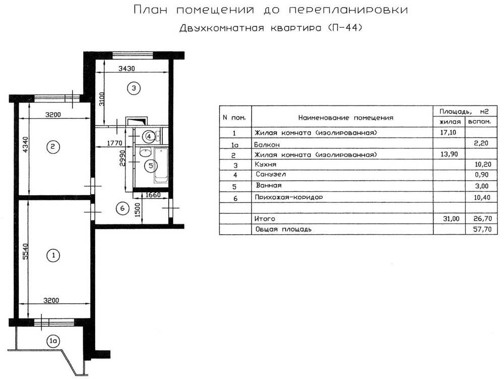 квартиры серии П-44 до