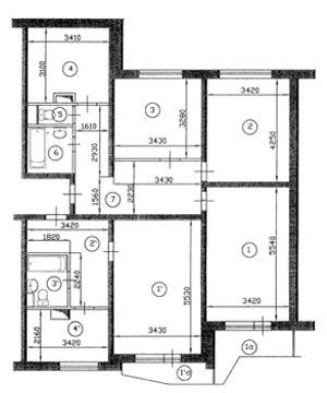 Дизайн однокомнатных квартир п-44т