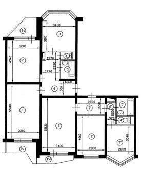 Варианты перепланировок квартир домов серии П-44Т.